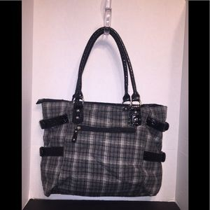 Braciano's Woolly Gray Tartan Shoulder Bag